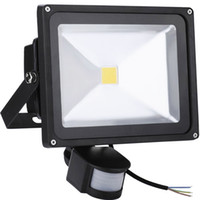 luces de inundación con sensor de movimiento al por mayor-10W 20W 30W 50W LED Proyectores de movimiento PIR Sensor de movimiento IP65 Impermeable Seguridad Iluminación exterior Proyectores para puertas de jardín Luces de inundación