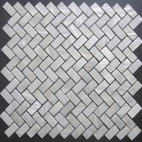 Wholesale Pearl Tile Backsplash - New Herringbone mosaic tile ; mother of pearl shell mosaic tiles,15*30*2 shell mosaics floor tiles,background wall;kitchen backsplash tiles