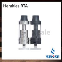 Wholesale Two Hole Atomizer - Sense Herakles RTA Atomizer 25mm 6ml Tank Top Filling Two Post Rebuildable Deck 4 Wide Airflow Holes 100% Original