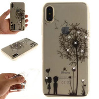 TPU IMD Luxo Sparkling Diamond Soft Mandala Flowers Phone Case para iphone X 8G 7 PLUS 6S 5S Samsung S8 PLUS NOTE8