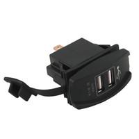 12 voiture électrique achat en gros de-DC Dual USB chargeur de voiture Carling ARB bascule 5V 3.1A Universal 12 - 24V voiture, moto, voiture électrique, VTT, bateau