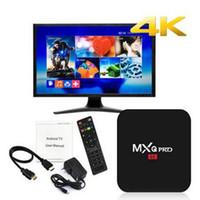 Wholesale Flash Media Box - MXQ Pro 4K android 7.1 amlogic S905W TV Box 1GB 8GB eMMC flash h.265 HEVC HDR VP9 Android Boxes Media Player
