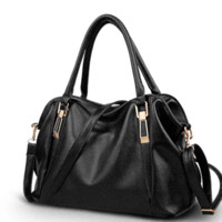Wholesale Handbag Kids - Fashion genuine leather handbag women's 2015 cowhide large bag women's bags one shoulder cross-body handbag Cheap handbags kids
