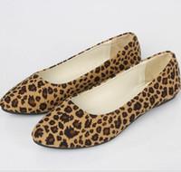 Wholesale Sexy Flat Comfortable Shoes - Women Designer Shoes Women Flats Shoes Lady Leopard Fat Heels Footwear New Women Lady Shoes Sexy Comfortable Walking Women Fashion Loafers
