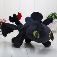Wholesale Dragon Toothless Plush - How to Train Your Dragon 40cm 15.8'' Toothless Night Fury Plush Doll Soft Stuffed Toy kids toys