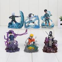 Wholesale Neji Figure - 6Pcs set 7cm Naruto Orochimaru Rock Lee Neji Sasuke Gaara Shikamaru Kakashi Uzumaki PVC Action Figure Model Toy approx 7cm