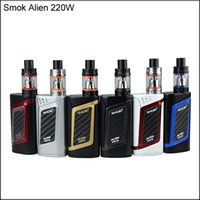 Wholesale High Quality System - High Quality SMOK Alien Kit With 220W Alien 220 Mod Firmware Upgradeable 3ml TFV8 Baby Tank Top Refill System In Stock