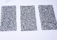 Wholesale wholesale iron princess patches - New Rectangle Mobile phone shell 10pcs lot sticking drill hotfix rhinestones transfer iron on motifs patches DIY motif rhinestone