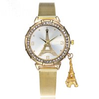 Wholesale Sumptuous Crystal - Hot selling fashion sumptuous The tower crystal Alloy mesh band birthday Christmas fete gift The best gift for your lover