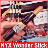 Wholesale shading pen for sale - Group buy Hot Sale NYX Wonder Stick Highlights and Contours Shade Stick Has Light Medium Deep Universal Four Style Concealer Pen