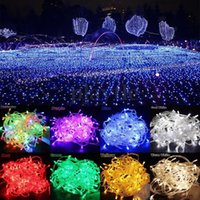 Wholesale Curtain Wall Decorations - AC110V 220V 100 200 300 500 LED Curtain Lights Christmas Fairy String Lights For Wedding Holiday, Party, Outdoor Wall, Bathroom Decoration