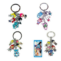 Wholesale Fairy Tail Anime Keychain - Free shipping 10set lot Anime FAIRY TAIL Figure Keychain 5Pendants For Christmas gifts Key Ring 4Styles