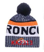 Wholesale rayon twill - New Fashion Unisex Denver Winter Broncos Hats for Men women Knitted Beanie Wool Hat Man Knit Bonnet Beanie Gorro Warm Cap