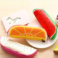 Wholesale Lovely Pencil Case - Lovely Fruit Shape Cosmetic Bag Pen Bags Cute Stationery Bags Storage Pencil Case Casual Travel Makeup Bag School Office Supplies Papelaria