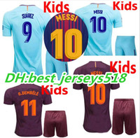 Wholesale Best Shirt Kid - 17 18 kids MESSI SUAREZ soccer jersey best quality 3RD ARDA A.INIESTA SERGIO PIQUE I.RAKITIC O.DEMBELE 2017 2018 Children football shirts