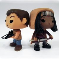 Wholesale Dead Dolls - Hot Sale Funko POP Walking Dead 10cm 4'' Daryl Dixon Michonne Action Figure Character Doll with Gift Box