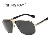 Wholesale Large Sun Shades Outdoor - Wholesale-Famous Vintage Polarized Shield Sun Glasses Driving Fashion Luxury Brand Design Men Large Sunglasses Male Shades Eyewear Outdoor