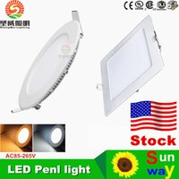 best led power leads - Ultrathin- 9W 12W 15W 18W 21W LED Panel Lights Downlight AC110-240V With Power Supply Fixture Ceiling Down Lights Nature Warm Cool White