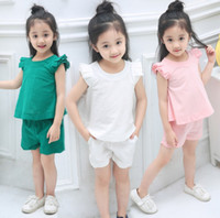 Wholesale Leaders Clothing - Bear Leader Girls Clothing Sets New Arrivals Spring&Summer O-Neck Sleeveless Solid Kids Clothing Sets Children Clothing top quality