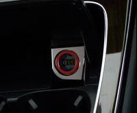 Wholesale Metal Decorative Cars - Car styling Cigarette lighter decorative panel cover trim interior molding 3D metal sticker for Mercedes Benz New C class W205