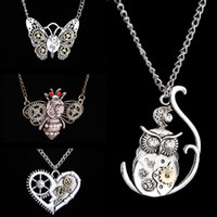 Wholesale Owl Accessories For Girls - Fashion Pendant Butterfly  owl Bee Choker Collar Necklace Women Jewelry for Girl Birthday Party Necklace Accessories Wholesale