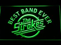 ingrosso best band ever-340 Best Band Ever The Strokes LED Neon Sign con interruttore On / Off 7 colori tra cui scegliere