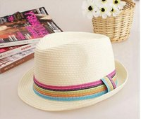 Wholesale Small Brim Summer Hats - New Spring And Summer Korean Style Men And Women Small Brim Hat Made Of Straw Wholesale Free Shipping Fashion Beach Sun Hat