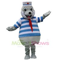 Wholesale Sea Lion Costumes - Cute Seal Mascot Costume for Adult Sea lions Costume Fancy Dress Christmas Kids Birthday
