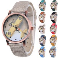 Wholesale Denim Watch Band - Luxury Woman Denim Band Casual Watches Fighter Round Dial Analog Watch Quartz Lady Watch Fashion Simple Dress Watch for Woman