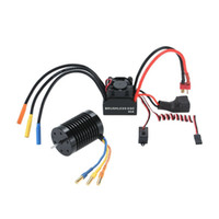 Atacado- 3650 3930KV 4P Sensorless Brushless Motor 45A Brushless ESC Electronic Speed ​​Controller com 6V / 2A Switch Mode BEC para 1/10 RC
