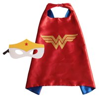 Wholesale Teenage Clothes For Wholesale - New Designs Kids Cape and Mask Superhero 70*70cm Cape Costume for Children Party Dress Cosplay Clothing Free Shipping