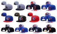 Wholesale Men Hip Hop Snapbacks - Yankees Hip Hop MLB Snapback Baseball Caps NY Hats MLB Unisex Sports Pittsburgh Pirates Adjustable Bone Women Men Casual Blue Jays