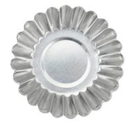 Wholesale Christmas Cupcake Cups - Aluminium Silver Cake Cupcake Liner Baking Cup Mold Muffin Round Cup Cake Tool Bakeware Baking Pastry Tools Kitchen