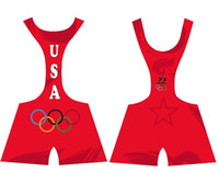 Wholesale Colored Olympic Torch Star Wrestling Singlet Gear Weight lifting Gym Building sports Outfit Sey Power Tights