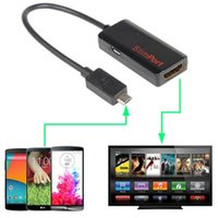 Wholesale 3d Video Adapter - High stability Video Connector Slimport MyDP to HDMI 1080P 3D HDTV Video Cable Adapter for LG G3 Ap 24