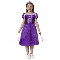 2e430528c Rapunzel princesa vestido dos desenhos animados menina rapunzel roxo  vestidos de beleza Tangled vestido para festa de aniversário C2808