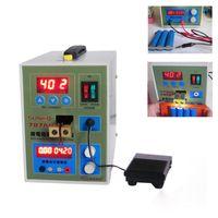 точечные сварщики оптовых-SUNKKO 787A+ Spot Welder 18650 литиевая батарея тест и зарядка 2 в 1 двойной импульсной точечной сварки машина со светодиодным освещением+никель