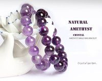 Wholesale Amethyst Buddha - Crystalgarden AAAAAA New natural amethyst purple crystals bracelet for women lovers girlfriend lucky Buddha stone jewerly gift