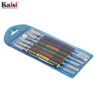 Kaisi Flexible 6pcs Dual Ends Metal Spudger Set Prying Opening Repair Tool Kit для iPhone iPad Tablet Мобильный телефон
