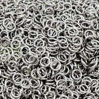 Wholesale Dog Pcs Charm - 1000 pcs Silver Open Jump Rings 5mm,6mm,7mm,8mm,9mm for your option free shipping