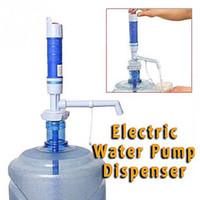 Wholesale Plastic Bottles Pump Dispenser - Wholesale- High-tech PVC Plastic Electric Dispenser Water Dispenser Convenient Drinking Water Pump For Bottle Water Pump