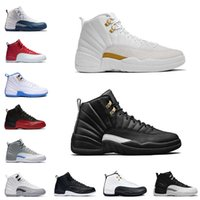 Wholesale Cow Boots - Series 12 XII Men Basketball Shoes Sneakers ovo white gym red Gamma Blue Taxi Barons wolf Grey Sports Shoes sneakers Boots
