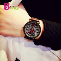 Wholesale Modern Minimalist Fashion Acrylic - Quan Zhiyong Yu Wen Le bigbang with the exo watch tide male and female students Korean minimalist fashion personality