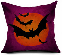 ingrosso federa di gufo-HalloweenPillow Case Decoration Bat Owl Stampa Cuscino decorativo stampato Federa Divano Home Decor Quadrato Tiro Ornamento Regalo