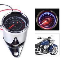 Wholesale Motorcycle Instrument Led - Universal X1000RPM Scooter Motorcycle Analog Tachometer Gauge Blue Night Light LED Motorcycle Instruments Scooter Speed Indicator