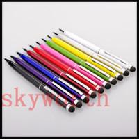 tükenmez kalem dokunmatik kalem toptan satış-Tüm Akıllı CellPhoneTablet için 2 in 1 Muti-fuction Kapasitif Dokunmatik ScreenWriting Stylus ve Tükenmez Kalem