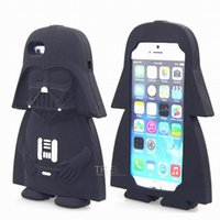 Wholesale Iphone 3d Alien Cases - 2016 3D Cartoon Cute star wars Extraterrestrial Alien Soft silicone case For iphone5 5s 5c 6 6s 6plus 6splus