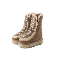 Wholesale Golden Group - Ankle boots women round toes low heel new A group of golden rhinestone flowers definitely upping your street cred.