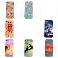 Wholesale Leopard Silicone Iphone Case - Marble Sexy Girl Lady Soft TPU+IMD Case For Iphone 7 I7 4.7 Pikachu Poke Go Dreamcatcher Flower Cartoon UK USA Flag Cartoon Leopard Cover