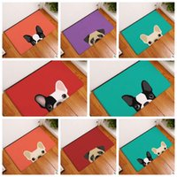 Wholesale Outdoor Dog Mats - 8 Styles 40*60cm Cartoon Dog Printed Floor Rug Water Absorption Non-slip Carpets for Bedroom Mats Kitchen Entrance Mats CCA7925 30pcs
